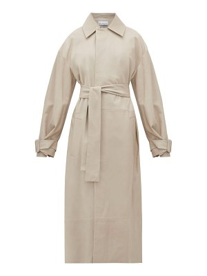 RAEY belted leather trench coat