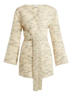 RAEY belted mohair blend cardigan