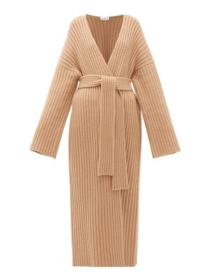 RAEY belted ribbed-knit cashmere maxi cardigan