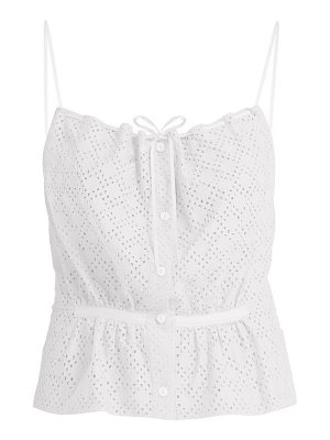RAEY button through broderie anglaise cami top