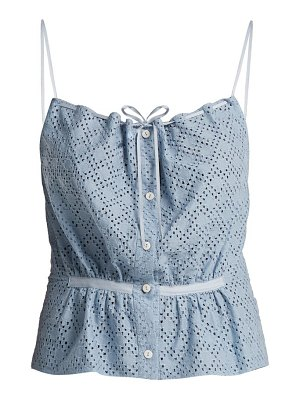 RAEY button-through broderie-anglaise cami top