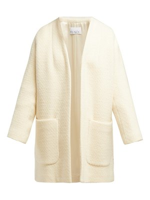 RAEY collarless wool bouclé coat