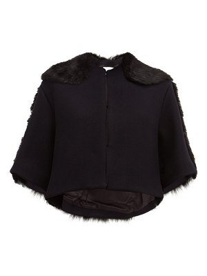 RAEY cropped shearling and wool jacket