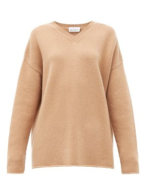 RAEY dip-hem knitted cashmere sweater
