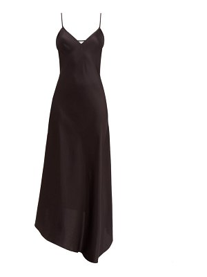 RAEY dip-hem silk-satin slip dress