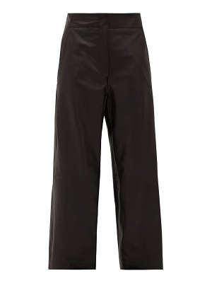 RAEY elasticated-back leather trousers