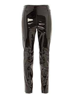 RAEY elasticated-back skinny vinyl trousers