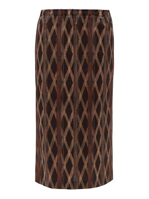 RAEY elasticated-waist aztec-print cotton midi skirt