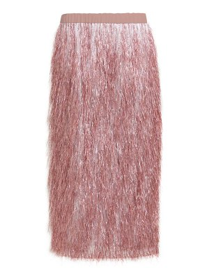 RAEY elasticated waist tinsel midi skirt