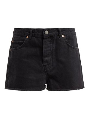 RAEY hawaii raw-cut denim shorts