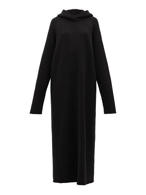 RAEY hooded knitted cashmere maxi dress