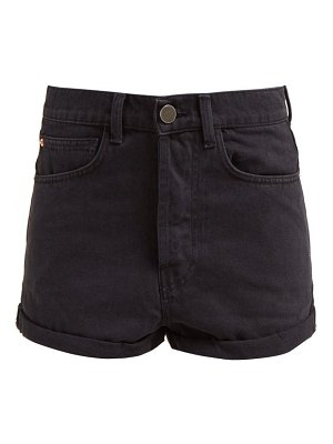 RAEY low cut-off denim shorts