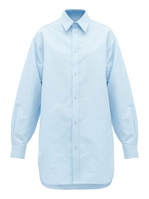 RAEY oversized dropped shoulder cotton blend shirt