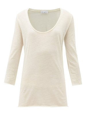 RAEY scoop-neck wool-jersey t-shirt