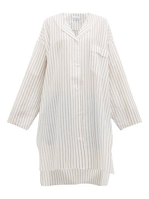 RAEY sheer striped cotton shirtdress