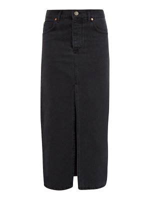 RAEY slit-front denim maxi pencil skirt