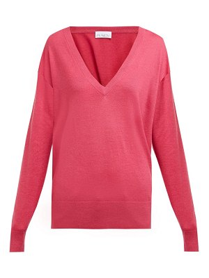 RAEY v neck fine knit cashmere sweater