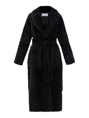 RAEY wrap-around belted shearling coat