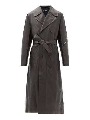 Raf Simons double-breasted leather trench coat