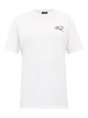 Raf Simons illusion-embroidered cotton-jersey t-shirt