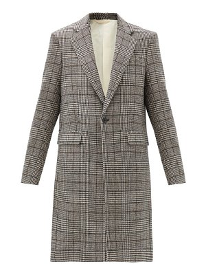 Raf Simons prince of wales-check single-breasted coat