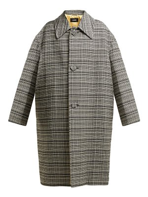 Raf Simons single breasted checked coat
