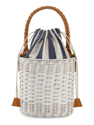 Rafe Katrina Wicker Bucket Bag