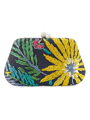 Rafe Rosie Embroidered Clutch Bag with Butterfly