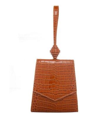 Rafe Vania Embossed Leather Wristlet Clutch Bag
