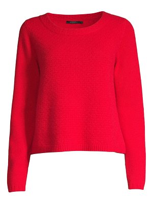 Raffi honeycomb textured cashmere pullover