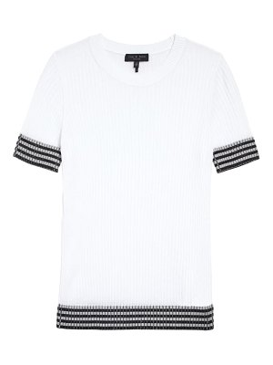 Rag & Bone arctic check rib cotton sweater t-shirt