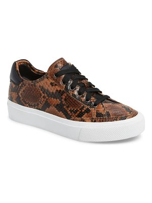 Rag & Bone army snake embossed low top sneaker