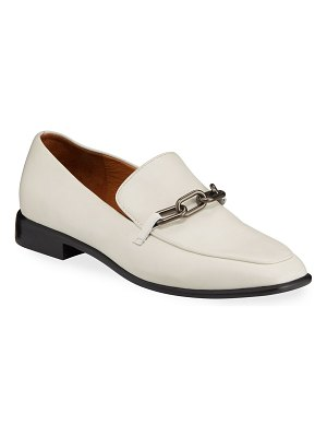 Rag & Bone Aslen Leather Chain-Strap Loafers