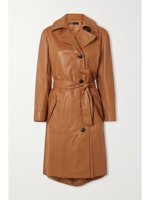 Rag & Bone belted leather trench coat