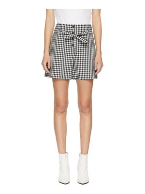 Rag & Bone black and white camille shorts