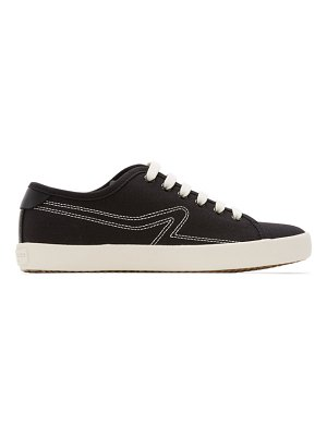 Rag & Bone black canvas court sneakers