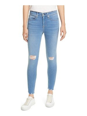 Rag & Bone cate high waist ripped ankle skinny jeans