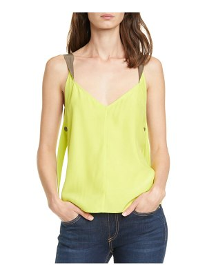 Rag & Bone colette twist strap colorblock silk camisole