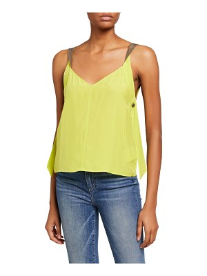 Rag & Bone Colette V-Neck Twist-Strap Silk Cami