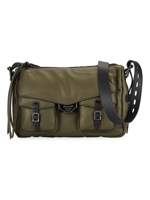 Rag & Bone Field Puffer Leather Crossbody Messenger Bag