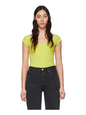 Rag & Bone green nadia bodysuit