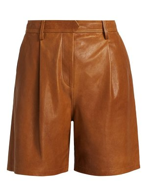 Rag & Bone ivy leather burmuda shorts
