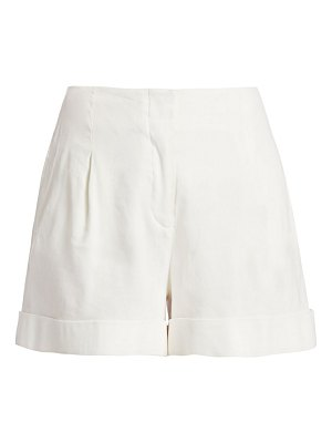 Rag & Bone jess pleated stretch-linen shorts