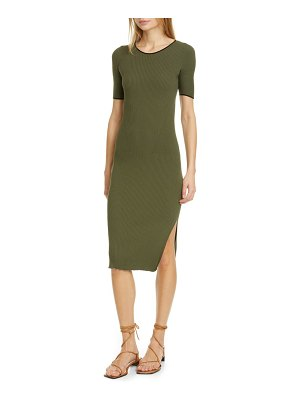 Rag & Bone kishi seamless rib midi sweater dress