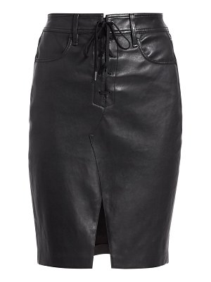 Rag & Bone lace-up leather pencil skirt