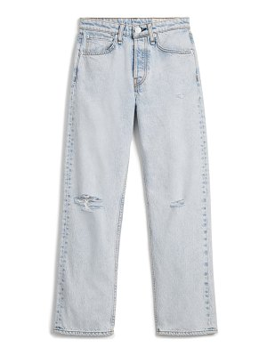 Rag & Bone maya ripped high waist ankle straight leg jeans
