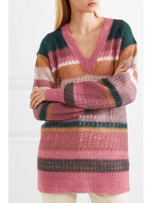 Rag & Bone nassau striped mohair and silk-blend sweater