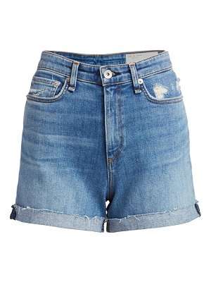 Rag & Bone nina high-rise cuffed denim shorts