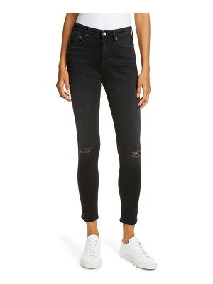 Rag & Bone nina ripped high waist ankle skinny jeans