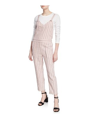 Rag & Bone Nina Striped Linen Jumpsuit